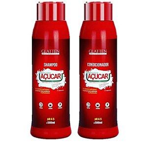 Kit Shampoo e Condicionador Açúcar Glatten 500ml