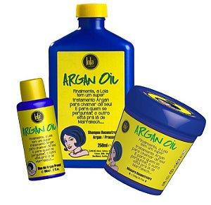 Kit Reconstrutor Lola Argan Oil/Pracaxi 3 Itens