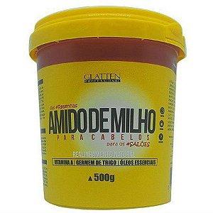 Amido de Milho para Cabelos Alisamento Natural Glatten 500g
