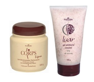 Kit Gel Massagem Corps e Luar Gel Esfoliante Hinode