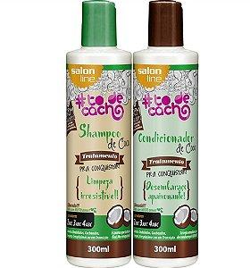 Shampoo e Condicionador de Coco #todecacho Salon Line 300ml