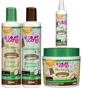Kit de Coco #todecacho Salon Line com Spray Água De Coco