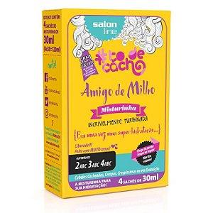 Misturinha Amigo de Milho #todecacho Salon Line 4 Sachês de 30ml