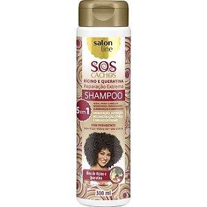 Shampoo S.O.S Cachos Rícino e Queratina Salon Line 300ml