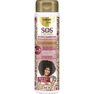 Condicionador S.O.S Cachos Rícino e Queratina Salon Line 300ml