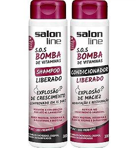 Kit SOS Bomba de Vitamina Liberado Salon Line Shampoo e Condicionador