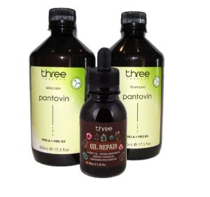 Kit Fortificante Capilar Pantovin com Oil Repair Three Therapy