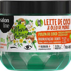 Máscara Leite De Coco E Óleo De Monoi Maria Natureza Salon Line 300g