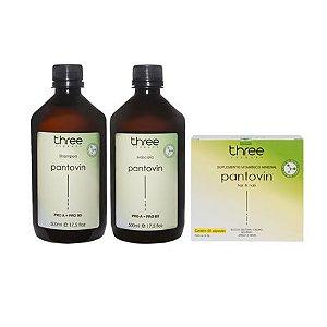 Kit Shampoo Máscara Cápsula Pantovin Three Therapy