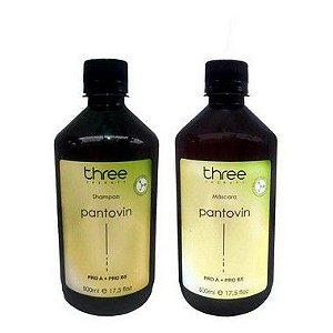 Kit Pantovin Shampoo e Máscara Three Therapy