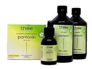 Kit Pantovin Shampoo Máscara Tônico e Cápsula Three Therapy
