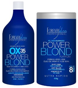 Oxigenada OX 35 + Pó Descolorante Power Blond Forever Liss