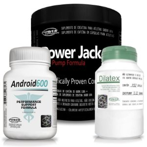 Android 600, Dilatex e Power Jack Nox Pump - Power Supplements