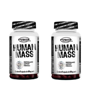 Human Mass da Power Supplements (2 frascos - totalizando 120 Cápsulas)