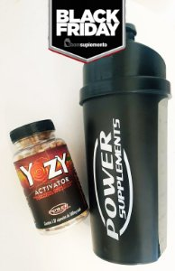 Compre 1 Yozy Activator e Ganhe 1 Coqueteleira da Power Supplements - BLACK FRIDAY