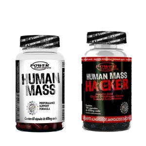 1 Human Mass + 1 Human Mass Hacker da Power Supplements - Super Combo!