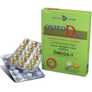 Osteo D Fin Terra Verde com 90 comprimidos (45 de Osteo e 45 de ômega 3)