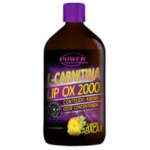L-Carnitina LIP OX 2.000 da Power Supplements - 480ml - Sabor Abacaxí