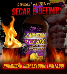 2 L-Carnitina LIP OX 2.000 da Power Supplements - 480ml - Sabor Abacaxí - Combo