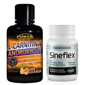 Sineflex e L-Carnitina Androxycut da Power Supplements