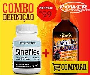 Combo Sineflex + Androxycut Sabor Laranja - SUPER PROMOÇÃO