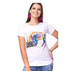 Camiseta Tatanka Feminina Branca Baby Look