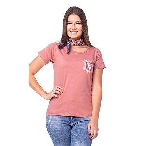 Camiseta Tatanka Feminina Salmão Baby Look