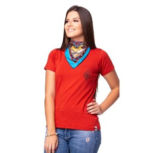 Camiseta Tatanka Feminina Laranja Baby Look
