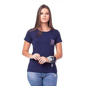 Camiseta Tatanka Feminina Azul Marinho Baby Look