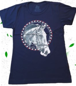 Camiseta Feminina Cavalo Crioulo Most Country Original