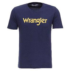 Camiseta Wrangler Masculina Azul Marinho Original
