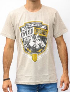 Camiseta Masculina  Mescla Most - Cavalo Crioulo