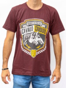 CAMISETA MASCULINA BORDO MOST - CAVALO CRIOULO