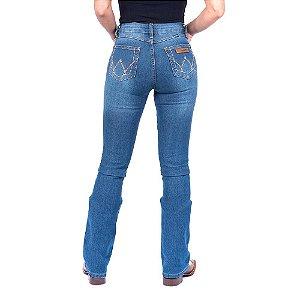 Calça Jeans  Wrangler Feminina Flare Original Azul