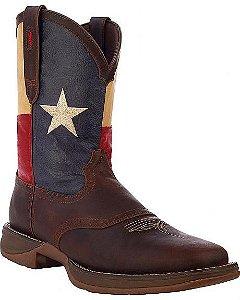 Bota Durango texas flag, bico quadrado.
