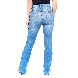 Calça Jeans Feminina Flare Wrangler Original Azul