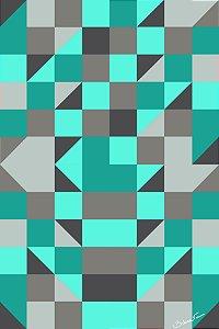 Quadro Decorativo Geometrico Verde