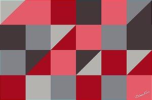 Quadro Decorativo Geometrico Rosa