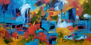 Quadro Decorativo Pintura Favelas