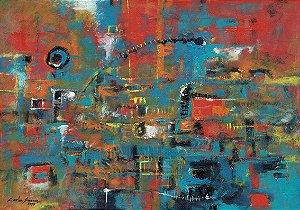 Quadro Decorativo Pintura Abstrata Colorida