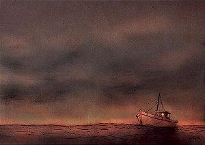 Quadro Decorativo Barco Navegador