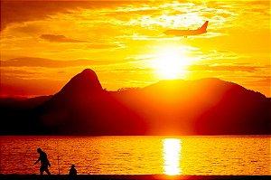 Quadro Decorativo Por do Sol no Rio de Janeiro