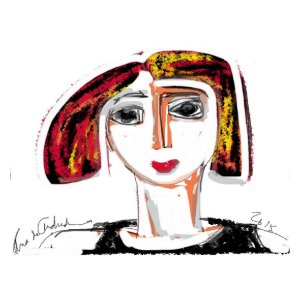 Quadro Decorativo Luiza Selfie
