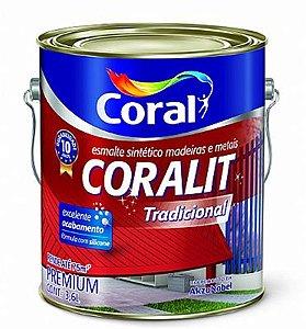 Esmalte Acetinado Premiun Branco 0,9L Coralit