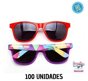 Óculos Personalizado Multicolor -   100 unidades