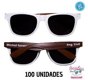 Óculos Personalizado Wood - 100 unidades