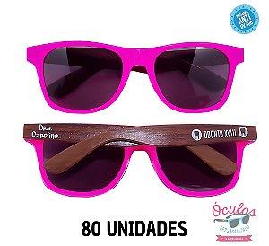 Óculos Personalizado Wood - 80 unidades