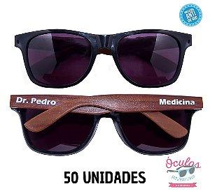 Óculos Personalizado Wood - 50 unidades