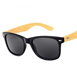 Óculos de Sol Hastes de Bambu - proteção Anti UV 400