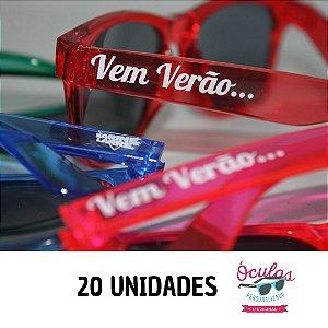 ÓCULOS PERSONALIZADO CRISTAL LINE - 20 UNIDADES